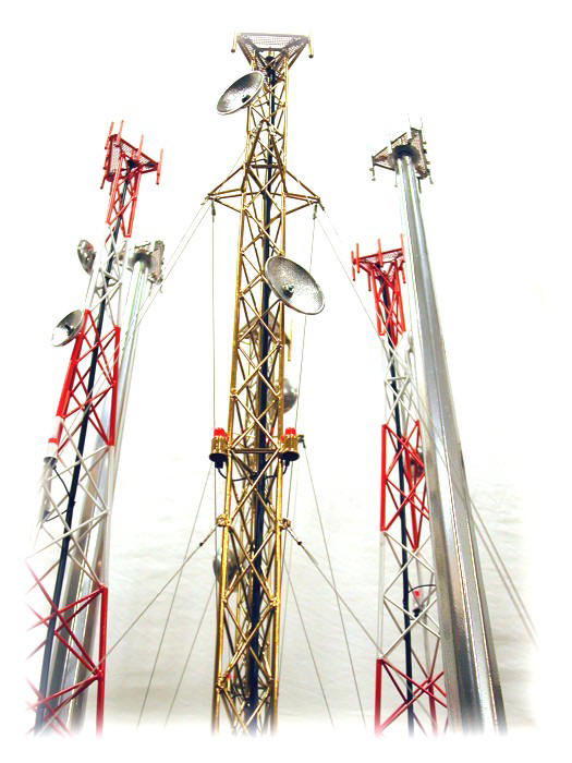 cell tower models,scale models,wireless communications gifts and ...